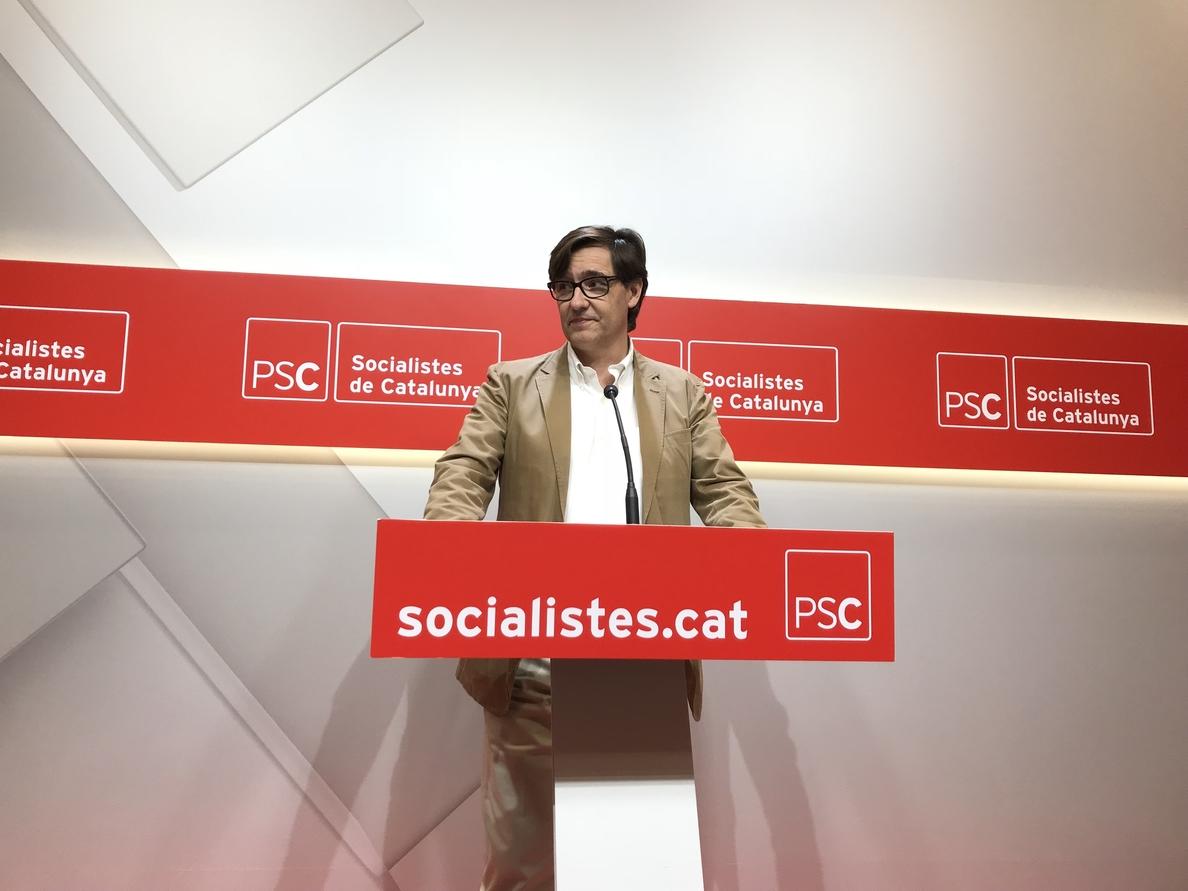 El PSC está en «sintonía» con el PSOE y sus planteamientos sobre Torra