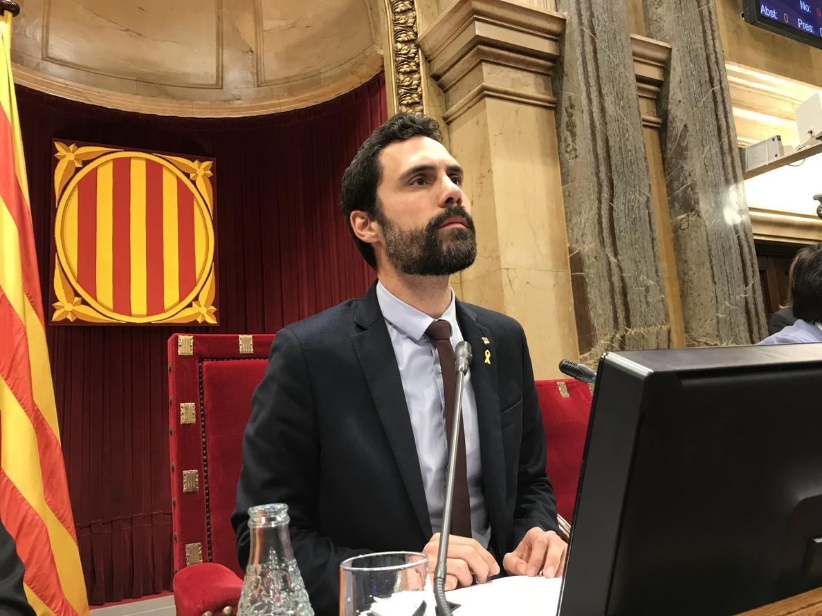 Torrent reclama diálogo ante la «escalada de represión» de PP, Cs y PSOE en Cataluña
