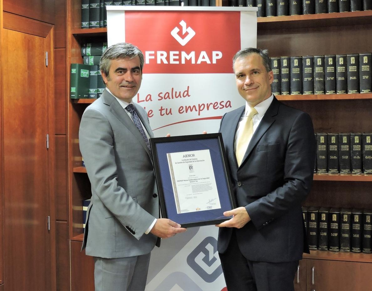 Fremap recibe el certificado Aenor de seguridad de la información ISO 27001