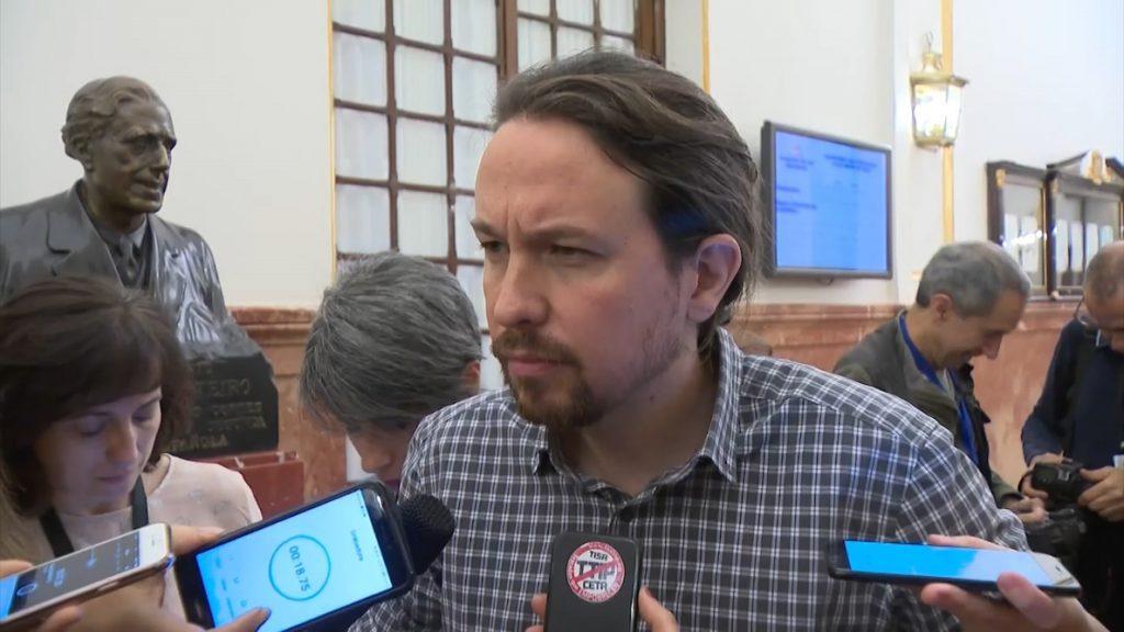 Pablo Iglesias rechaza las «excusas» del PNV para apoyar los PGE con el 155 vigente y les acusa de «mentir»