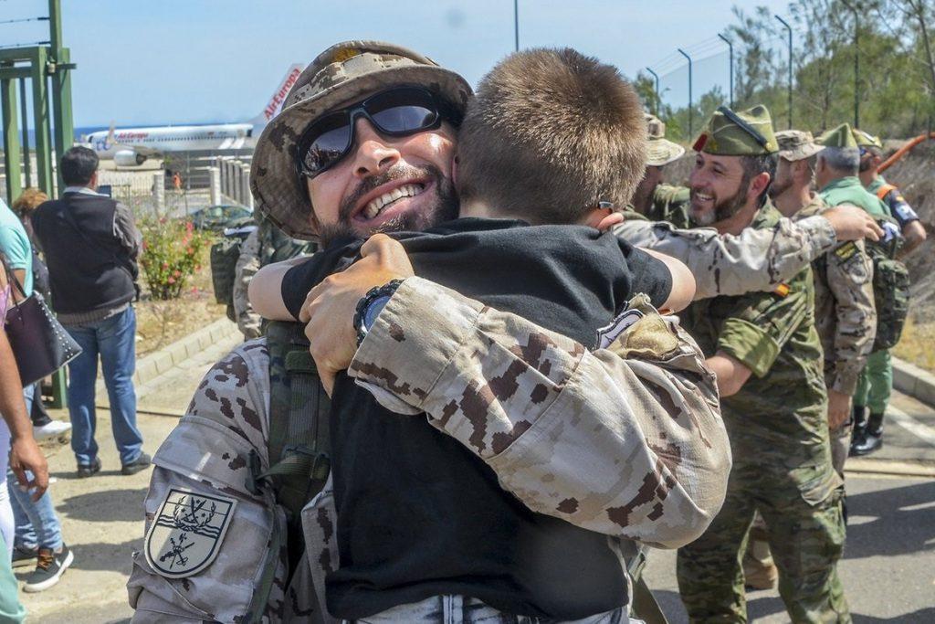 Vuelve la segunda rotación de legionarios del contingente que partió en noviembre a instruir al ejercito iraquí