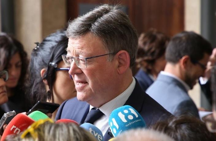 Ximo Puig anuncia que la Generalitat Valenciana se personará en el caso de Erial tras la detención de Zaplana