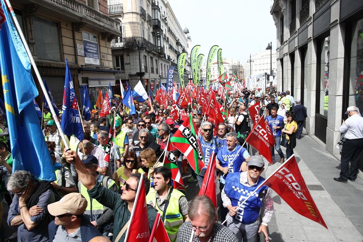 Más de 8.000 policías locales de España reivindican en Madrid su prejubilación a los 59 años