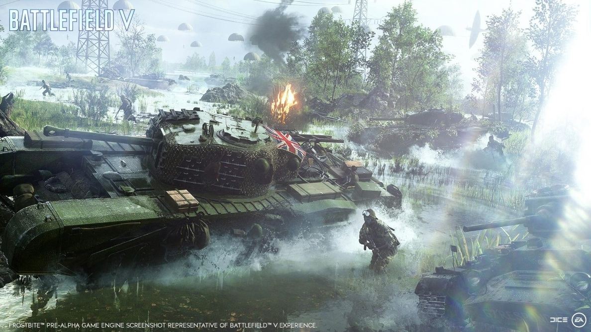 Battlefield V estará ambientado en la Segunda Guerra Mundial y saldrá a la venta en octubre
