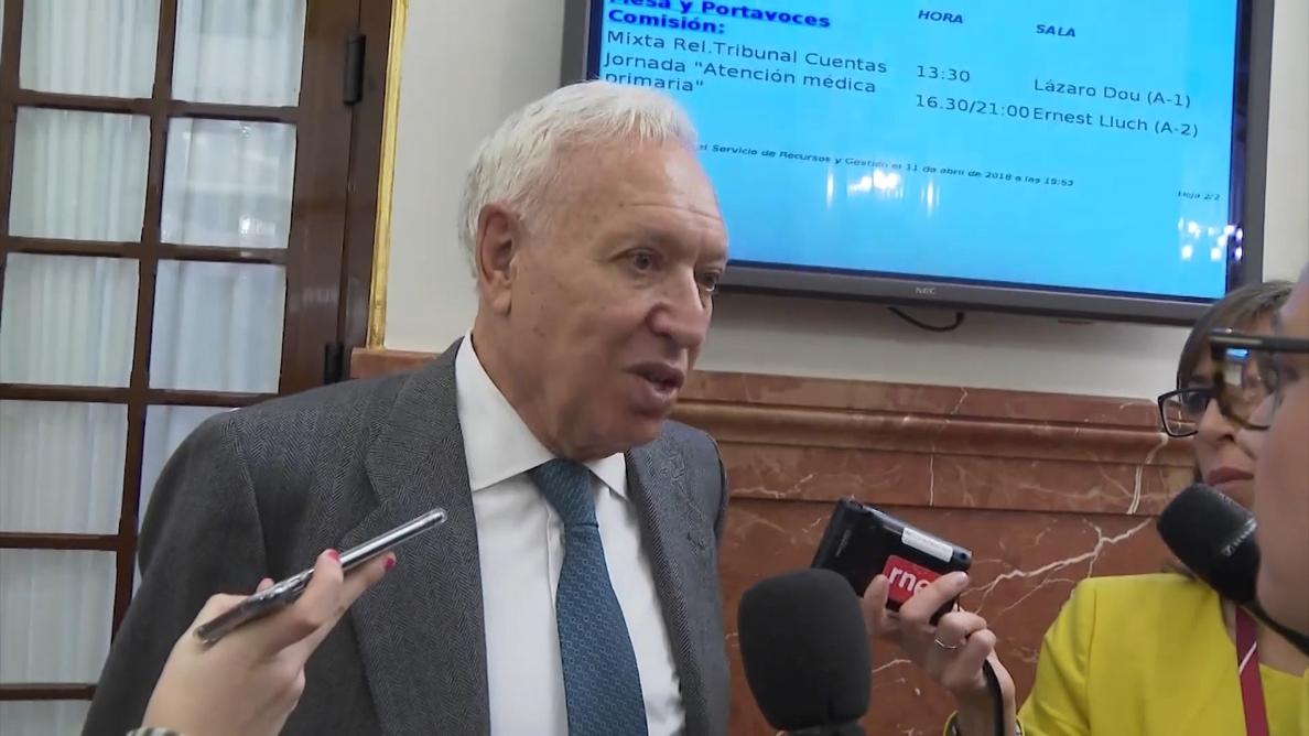Margallo dice que la condena es «un alto en el camino» que exige hacer lo que sea para recuperar la confianza