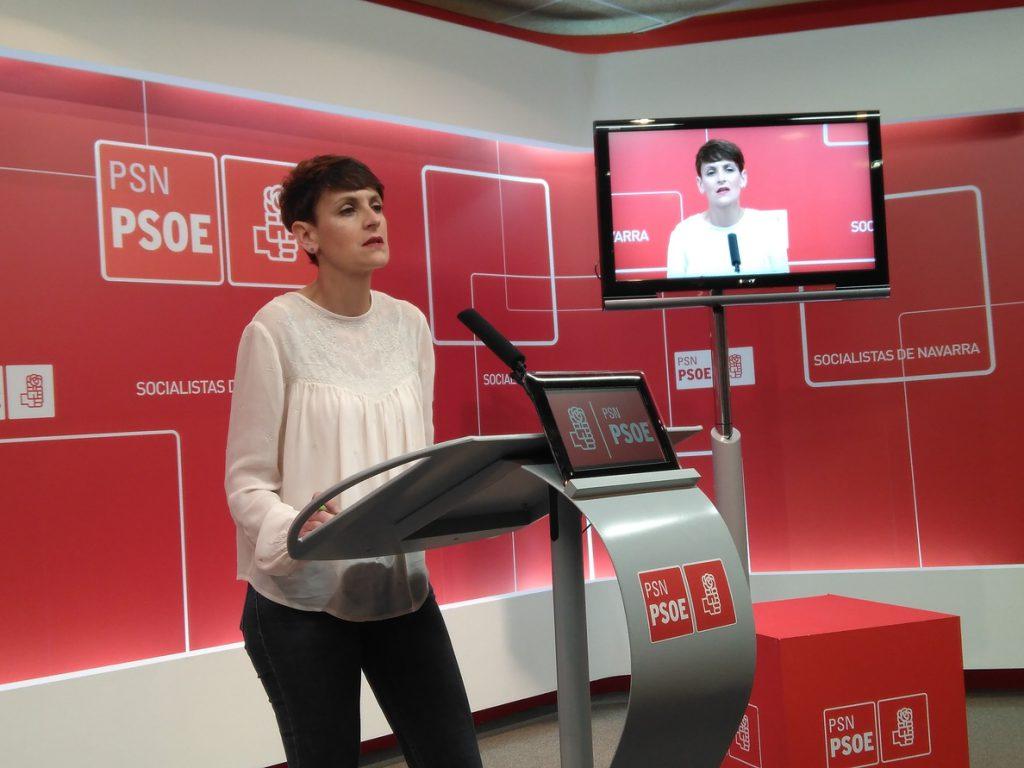 María Chivite ve «inasumible» que el PP siga al frente del Gobierno y sugiere una moción de censura a Rajoy