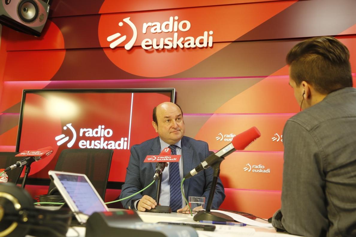 PNV dice dice apoyar los PGE es «lo mejor» para Euskadi y Cataluña porque «el 155 va estar para poco tiempo»