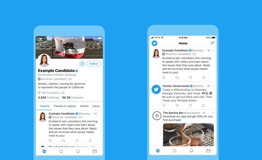 Twitter anuncia etiquetas electorales para identificar a los políticos en Estados Unidos