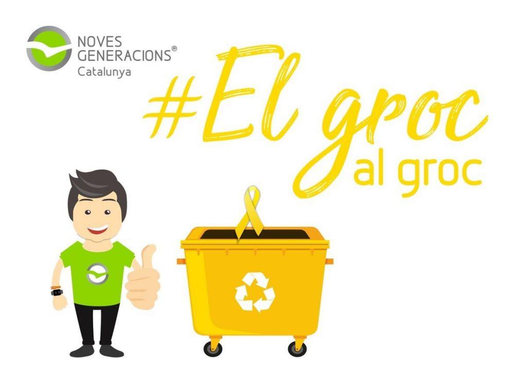 Las juventudes del PP catalán lanzan una campaña contra la simbología independentista en las calles