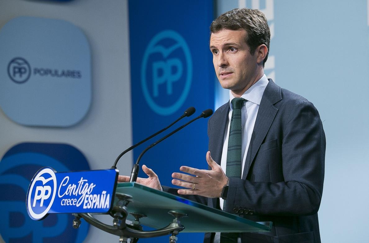 Casado (PP) duda de que la moción de censura contra el Gobierno «tenga el apoyo suficiente»