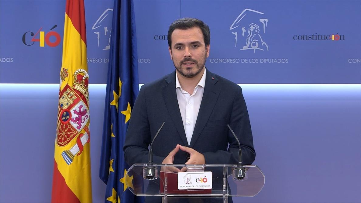 IU confirma su apoyo a Sánchez y avisa a Cs que si no hace lo propio, será «corresponsable» de la corrupción del PP