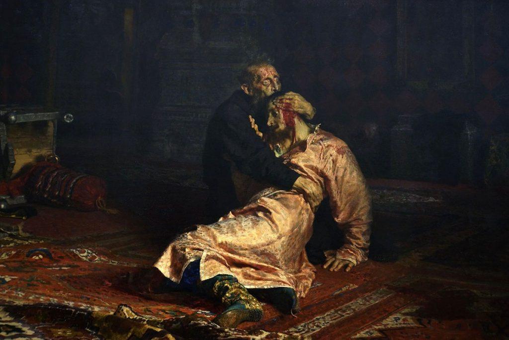 Un hombre en estado de embriaguez daña el famoso cuadro 'Iván el Terrible y su hijo' en un museo de Moscú