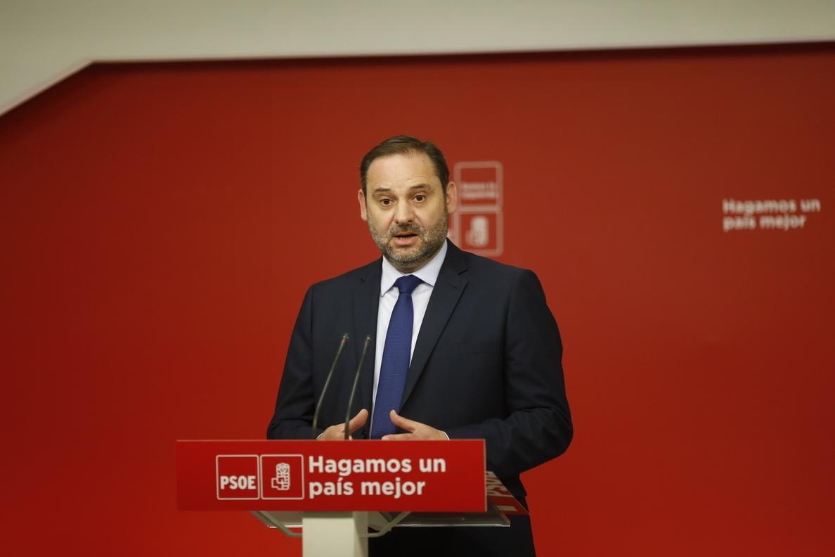 Ábalos aprueba que el debate de la moción de censura empiece este jueves: «Es bueno no postergarlo»