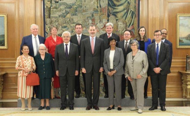 El Rey recibe a los participantes en la Asamblea de la Comisión Internacional contra la Pena de Muerte