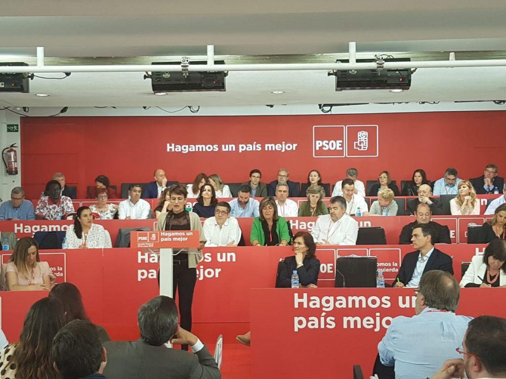 Chivite defiende la moción de censura ante el Comité Federal del PSOE como «ejercicio de decencia política»