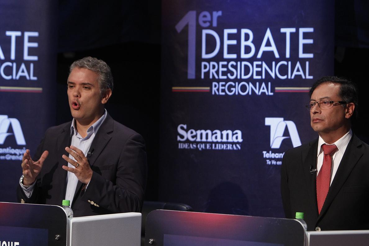 Duque y Petro se disputarán la Presidencia de Colombia en segunda vuelta el 17 de junio