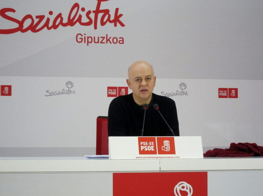 Elorza (PSOE) cree que ni Cs ni PNV ni los independentistas catalanes buscan «devolver la dignidad a la democracia»