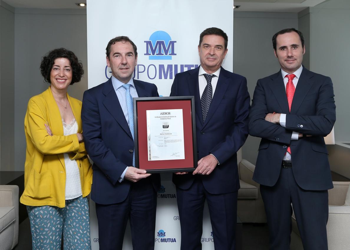 Grupo Mutua obtiene el certificado del Sistema de Gestión de Prevención de Delitos y Riesgos Penales de Aenor