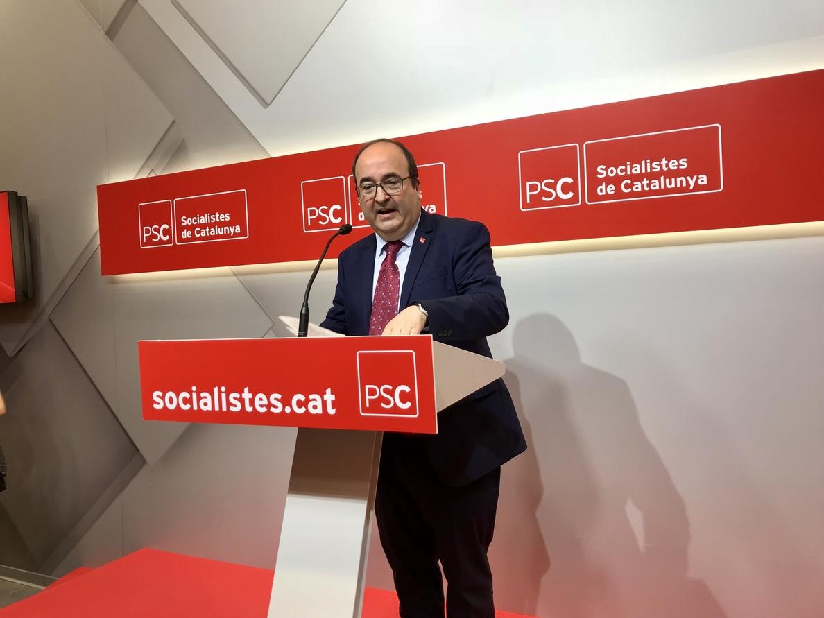 Iceta pide que Barcelona no sea «escenario de batalla» sobre el independentismo