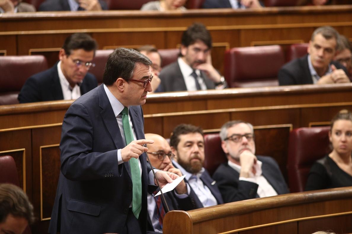 El PNV no adelanta su voto en la moción de censura pero duda de que Sánchez quiera su apoyo