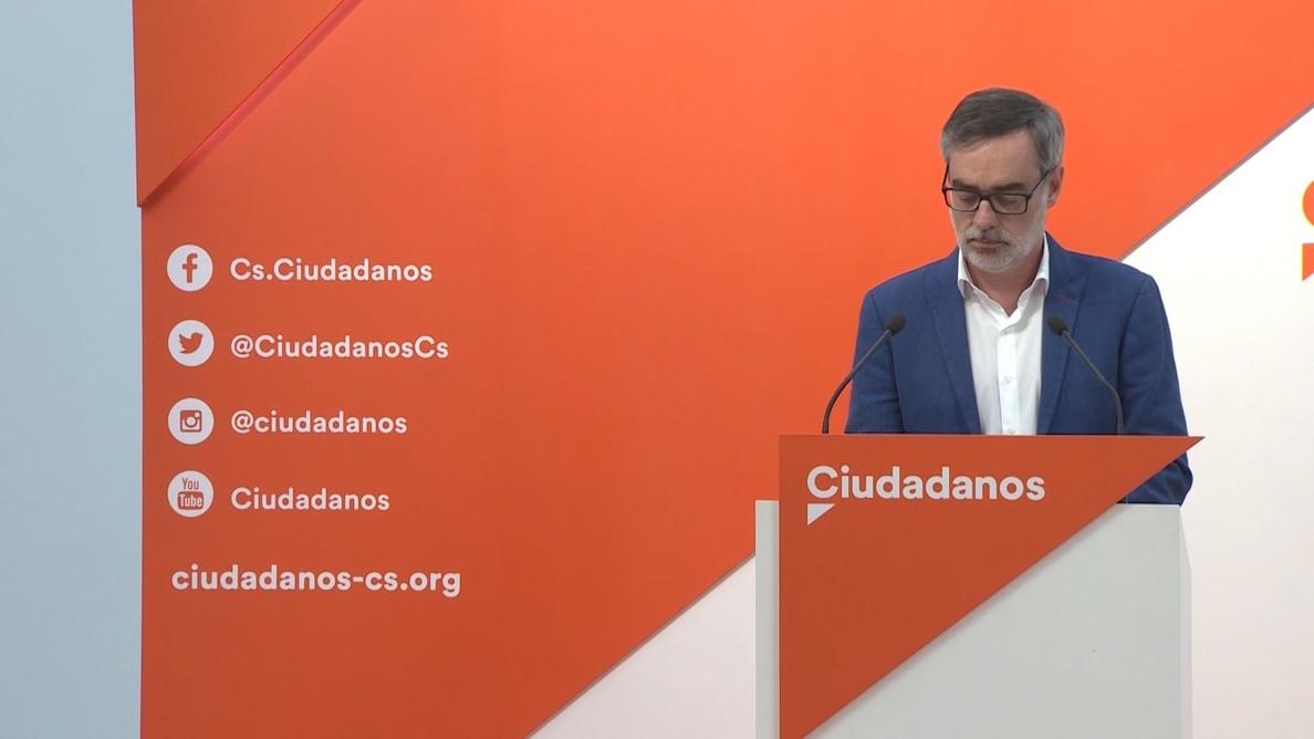 Villegas (Cs) afirma que «poner a Pedro Sánchez en La Moncloa es totalmente inviable»