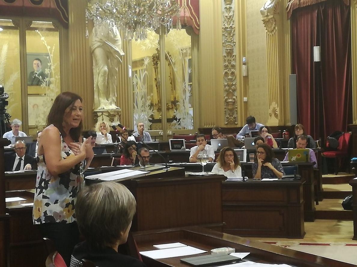 Armengol reclama al PP de Baleares que además de pedir perdón «devuelvan los 153.000 euros» de la campaña de 2017