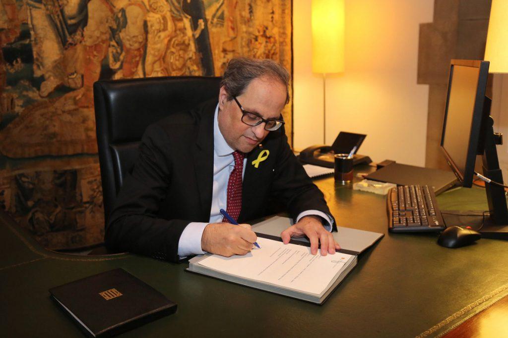 Torra designa nuevos consellers y desbloquea el Govern