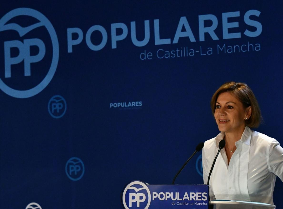 Cospedal llega al Congreso dispuesta a «defender la honorabilidad» del PP