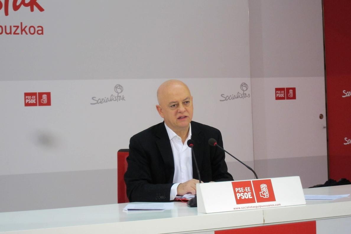 Elorza dice que habrá «diálogo» con los partidos en torno a un programa de Gobierno «corto» que presentará Sánchez