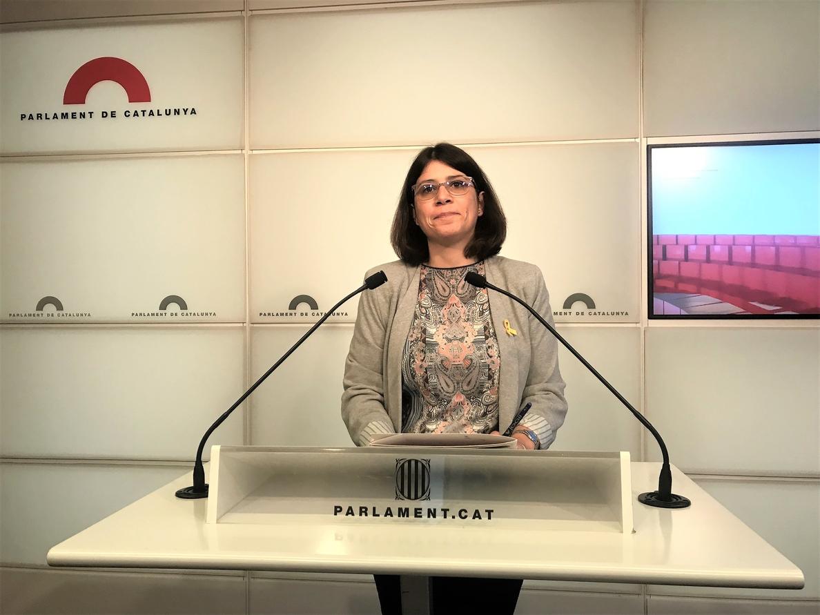 JxCat pide a una declaración institucional del Parlament en favor de los lazos amarillos