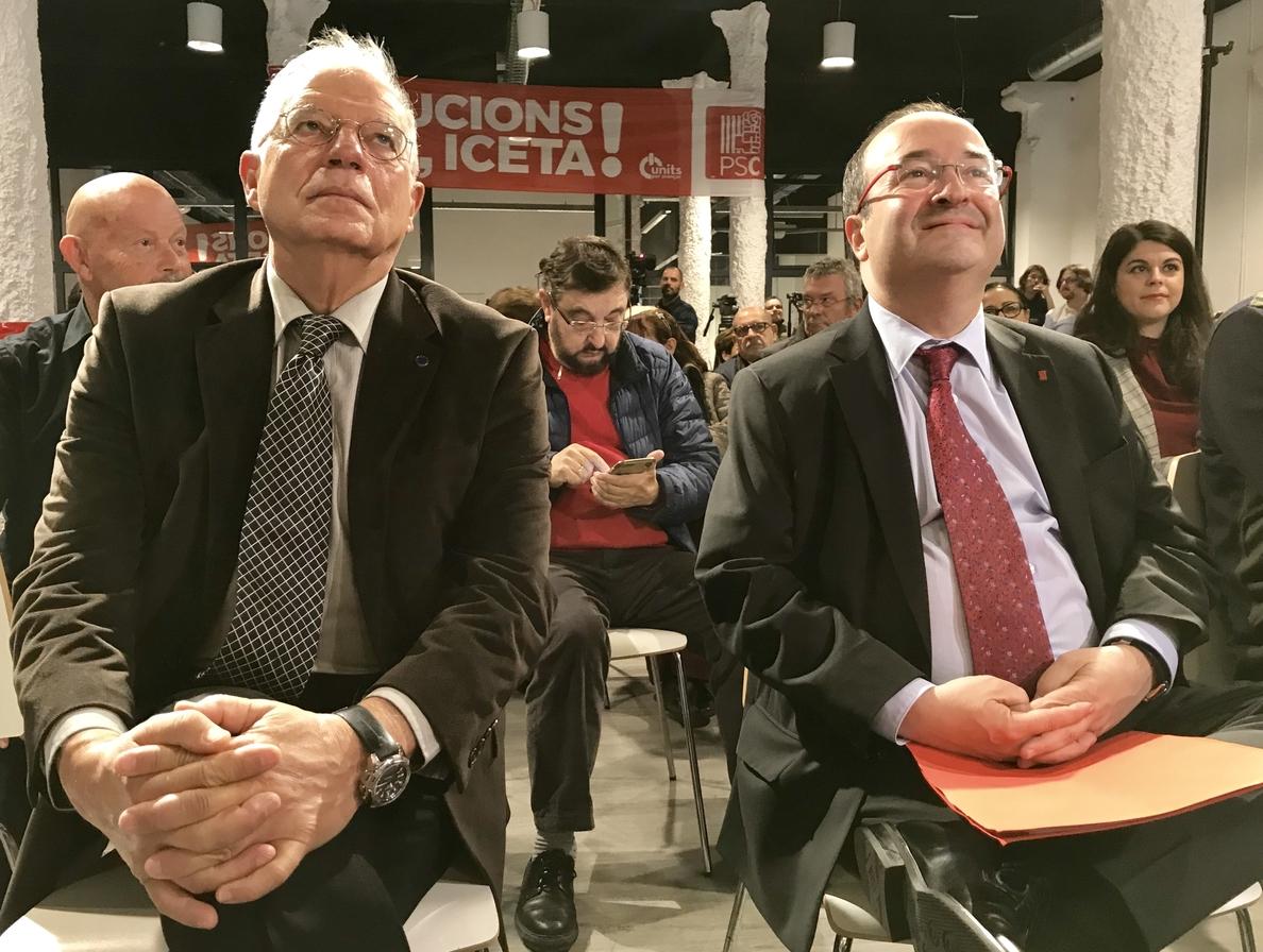 Borrell, sobre la propuesta de moción de Cs: «Lo que hay que hacer es debatir la que ha presentado el PSOE»