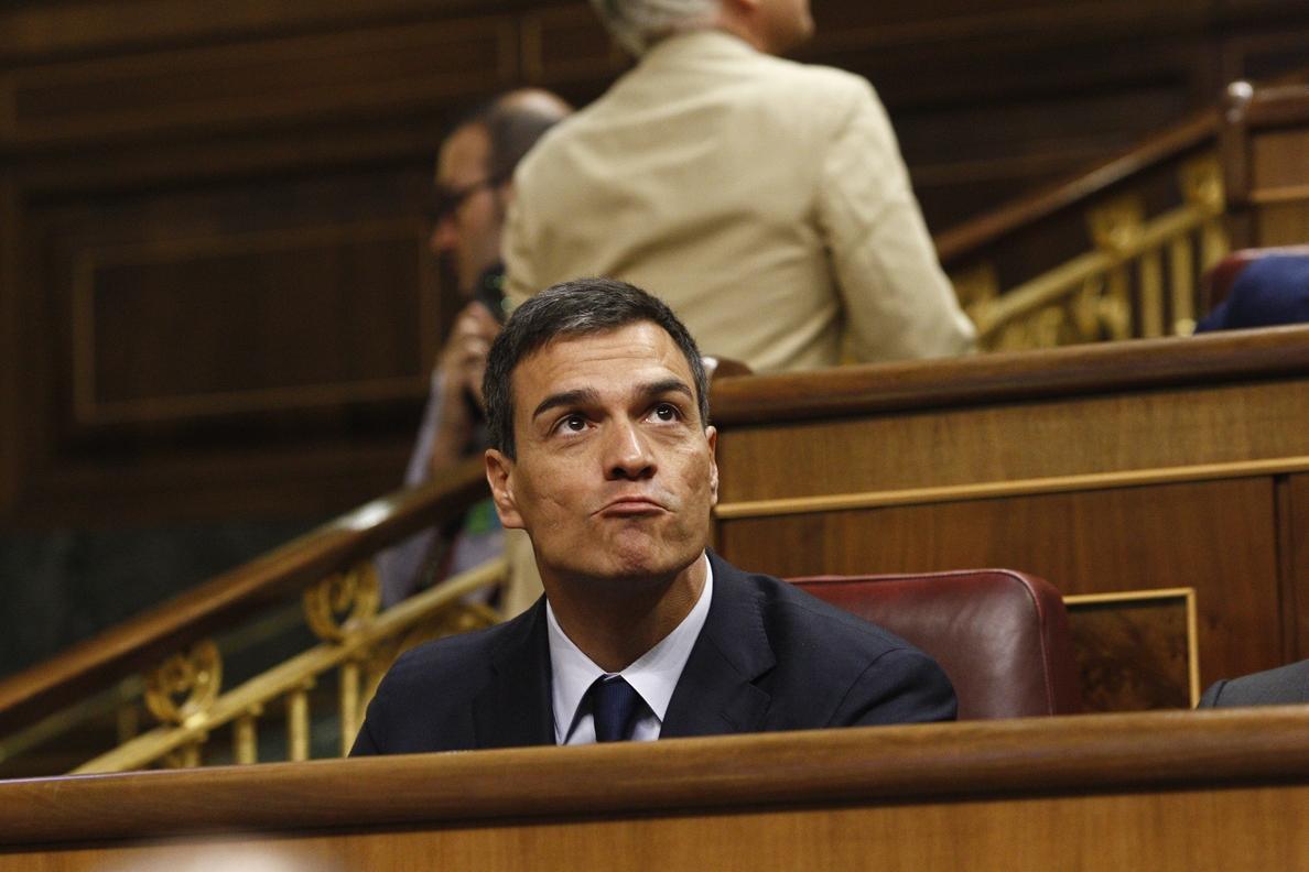 El Congreso autoriza a Pedro Sánchez a sentarse en la bancada socialista en el debate de la moción de censura