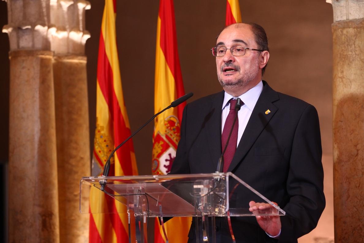 Lambán dice que la moción de censura del PSOE «desatascará» la situación y conducirá a elecciones generales anticipadas