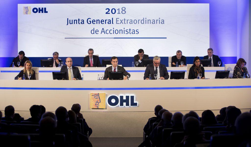 OHL aprueba volver al dividendo con un pago de 0,348981 euros por acción el 6 de junio