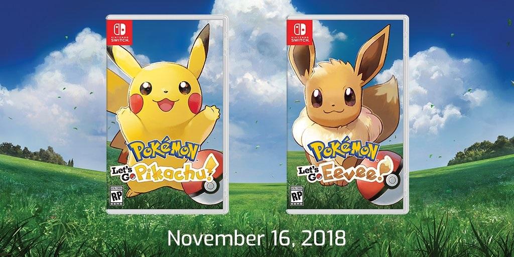 Pokémon Let»s Go Pikachu y Let»s Go Eevee llegarán a Nintendo Switch el  16 de noviembre con un accesorio especial