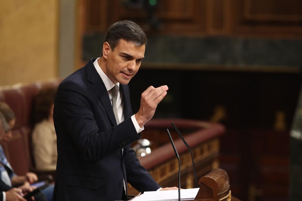 Sánchez se compromete «por responsabilidad» a mantener los Presupuestos del Gobierno de Rajoy