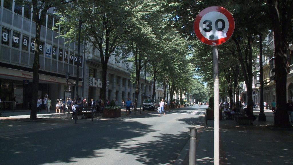 Bilbao estrena este sábado el límite de velocidad a 30 kilómetros por hora en el 87% de sus vías