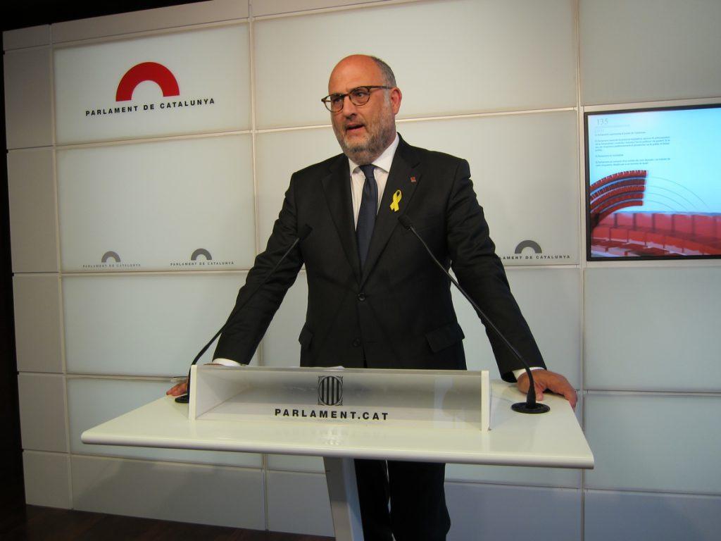 Eduard Pujol (JxCat) contesta a ERC: «Somos los más valientes, somos los de la centralidad»