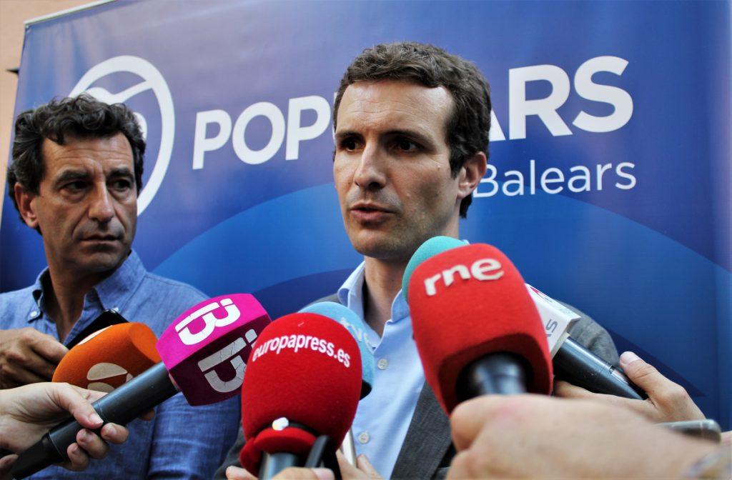 Casado: «Si soy presidente del PP no cabe el diálogo con aquellos que quieren romper España»