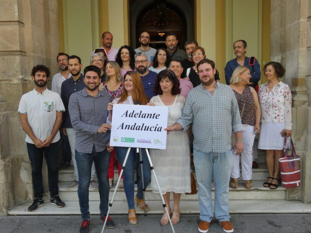 Podemos, IU, Primavera Andaluza e Izquierda Andalucista abogan por el «bloque de cambio» de Adelante Andalucía