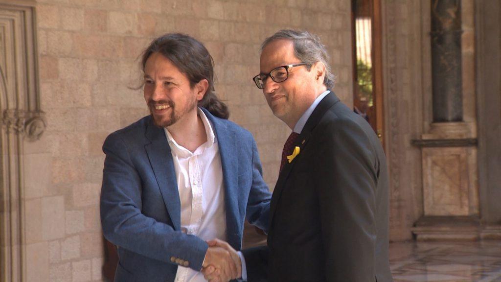 Pablo Iglesias celebra el traslado a Cataluña de Junqueras y otros cinco independentistas presos por el procés
