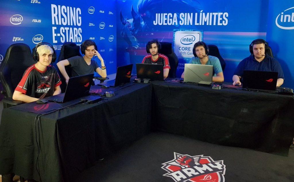 El programa formativo Rising e-Stars de Intel finaliza con la victoria de ASUS ROG Army contra Efficiency en LoL