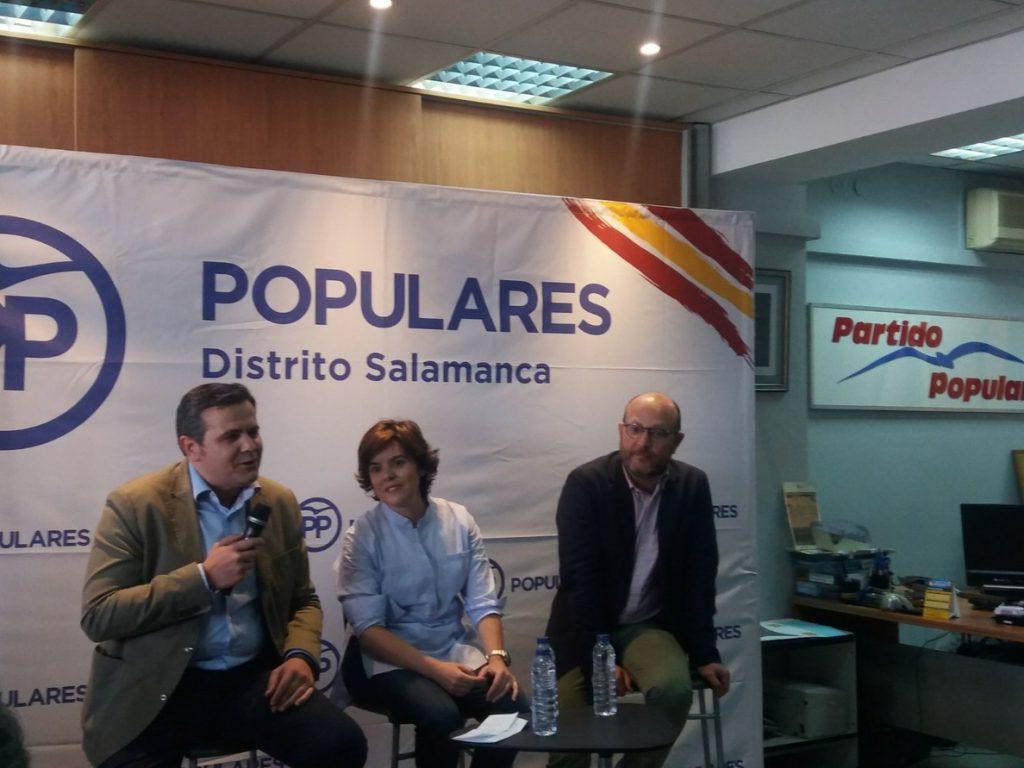 Santamaría: «Hago campaña en positivo y no hablo de otros candidatos ni de los que han sido presidentes del PP»
