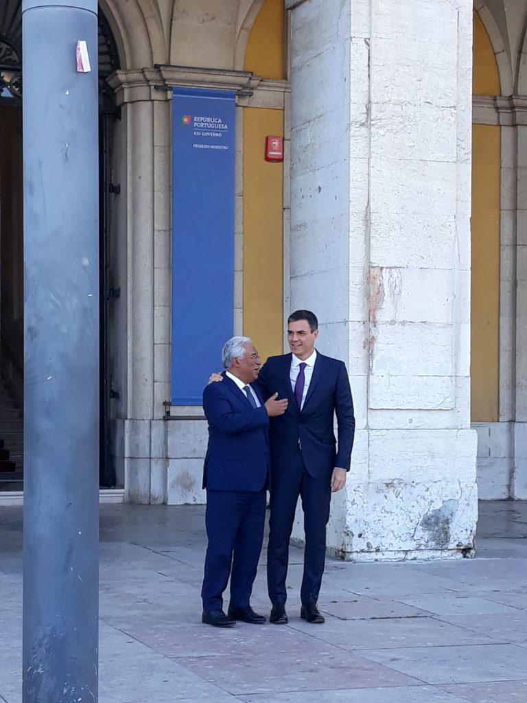 El primer ministro portugués recibe a Pedro Sánchez en Lisboa