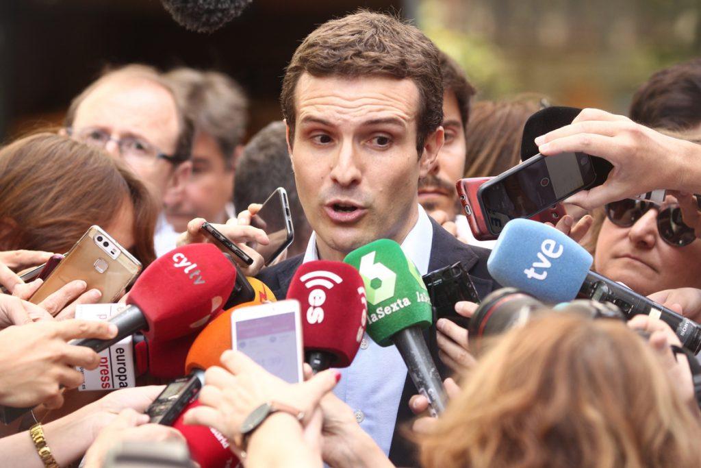 Casado se compromete a acabar con las cesiones a los separatistas si alcanza la Presidencia