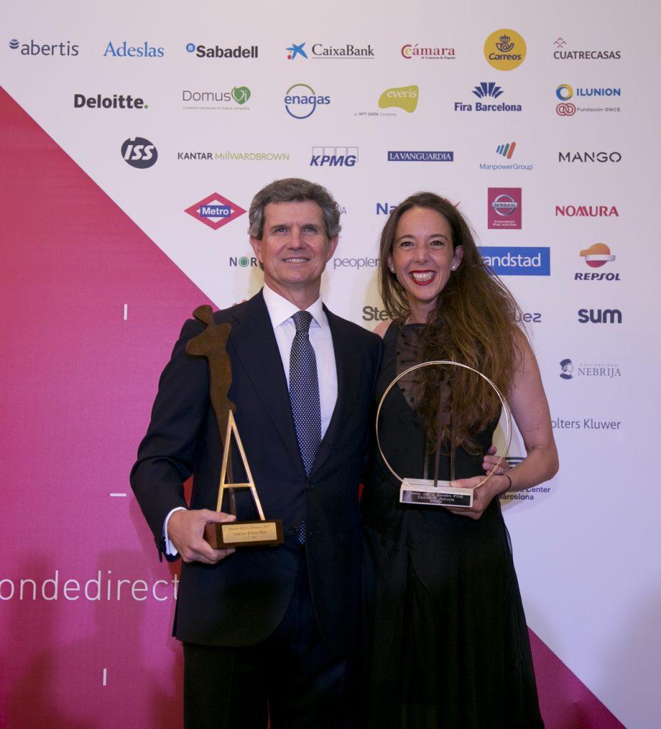 Francisco Riberas (Gestamp) y Carlota Pi (Holaluz) reciben los Premios AED a mejores directivos