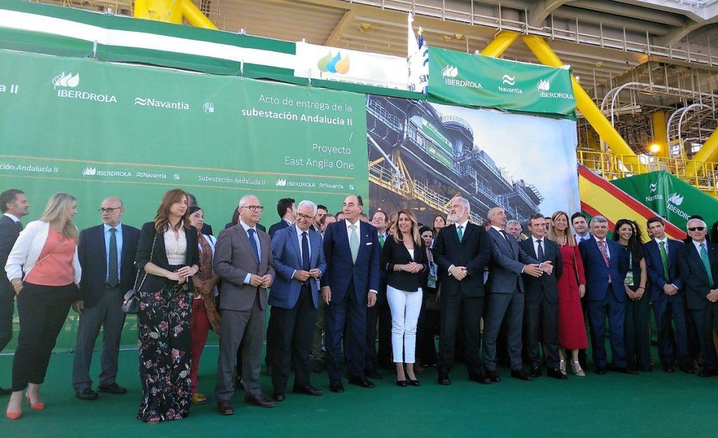 Navantia entrega a Iberdrola la subestación Andalucía II para el parque eólico marino en Reino Unido