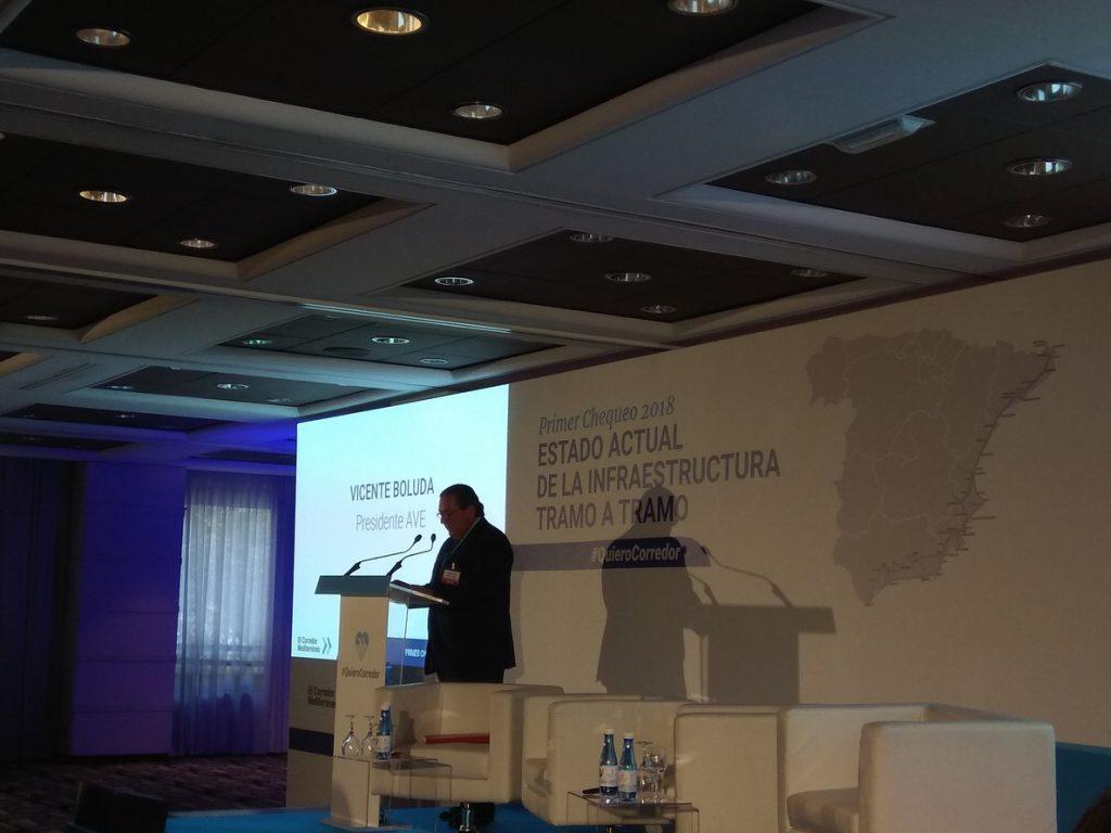 Presidente de los empresarios valencianos revela el compromiso de Ábalos de «intentar acelerar» el Corredor Mediterráneo