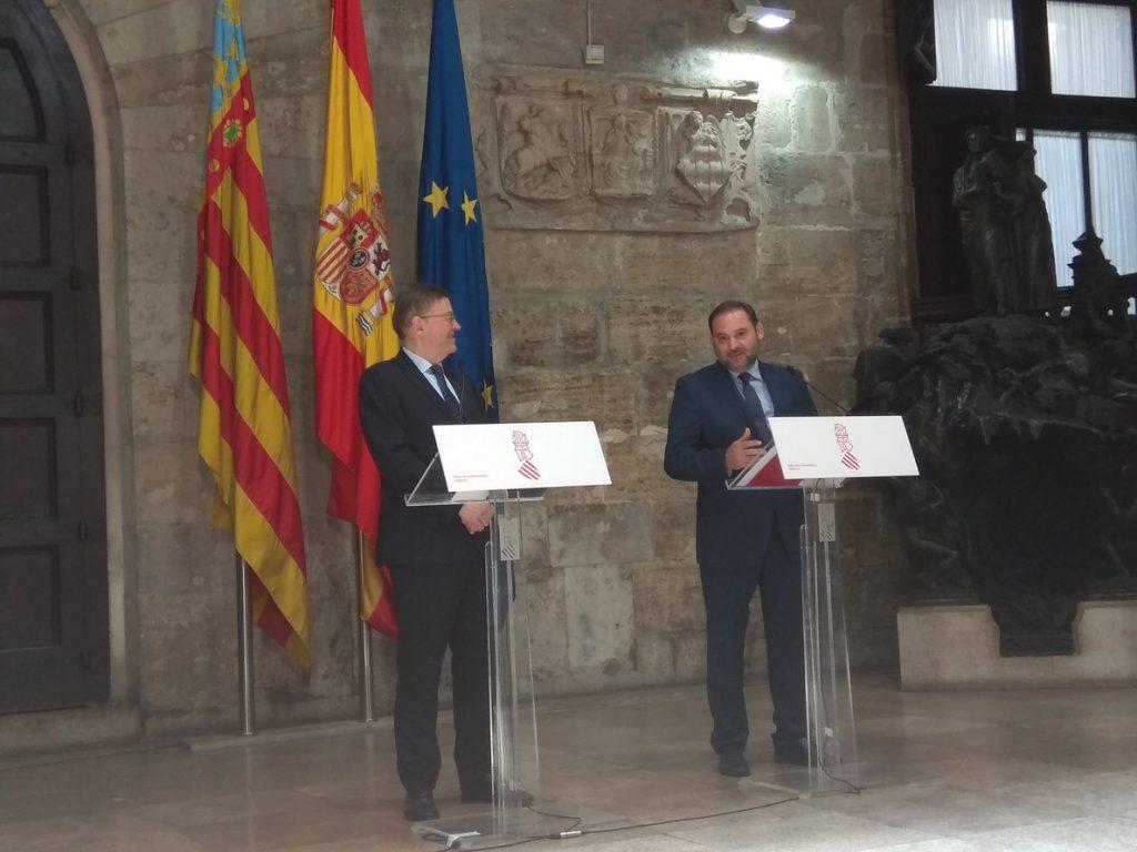 Ábalos anuncia que Valencia «liderará» el proyecto del Corredor Mediterráneo