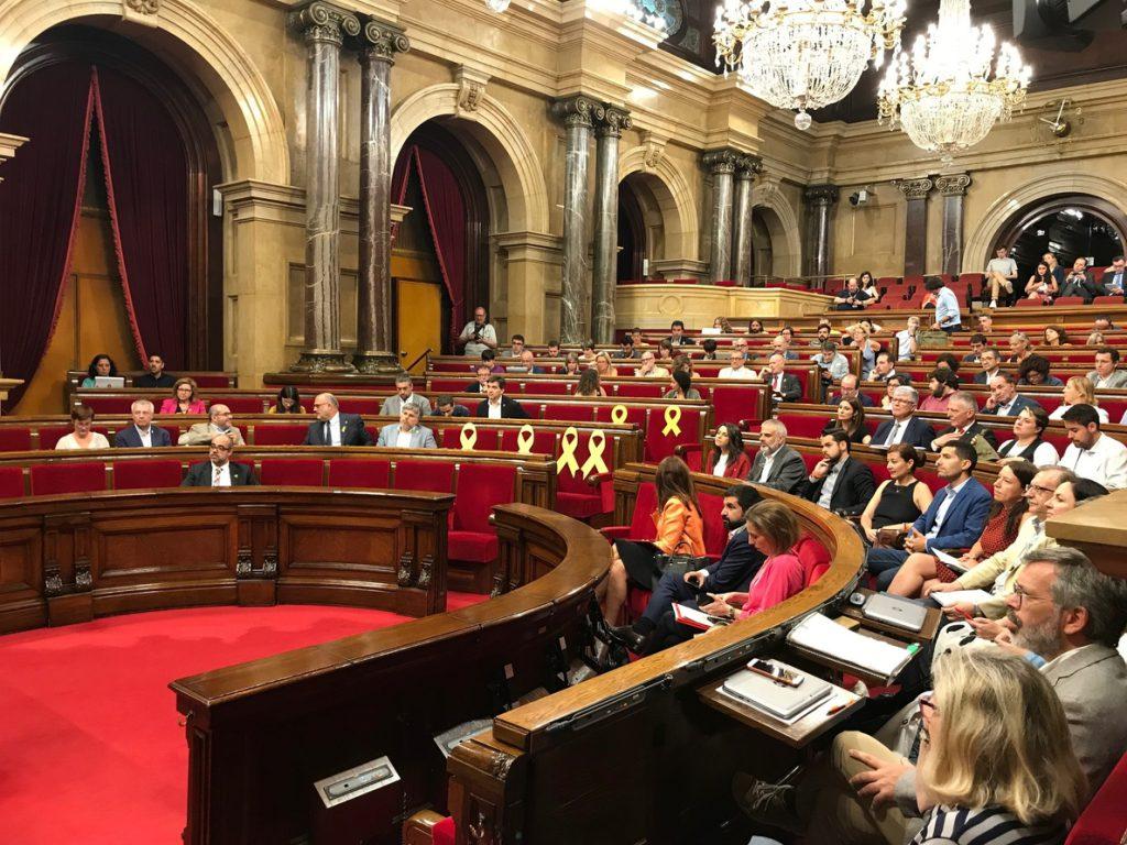 El PSC pide amparo al TC por la aceptación a trámite de la moción del 9N en el Parlament